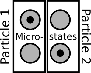 A 2 particle, 4 microstate system